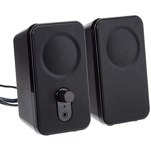 AmazonBasics Computer Speakers for Desktop or Laptop PC | AC-Powered (US Version)