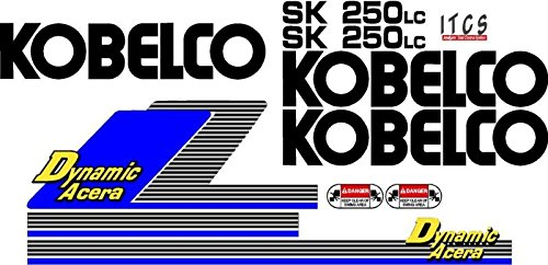Decal Set with Dynamic Acera & ITCS Decals Made For Kobelco SK 250LC Excavator ++