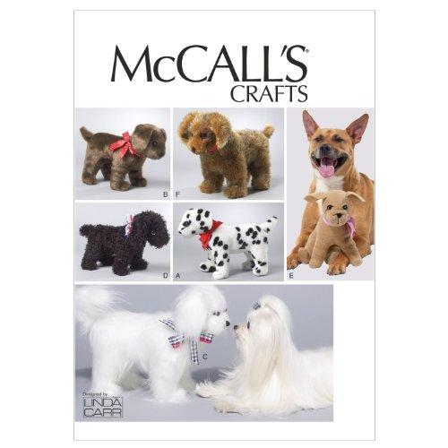 McCall Patterns M6620OSZ Soft Dogs Sewing Pattern, Size One Size -