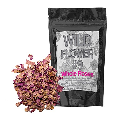 Dried Roses Pieces, 100% Natural Dried Rose Flowers For Homemade Tea Blends, Potpourri, Bath Salts, Gifts, Crafts, Wild Flower #9 (2 ounce)