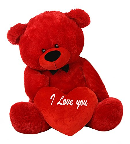 buy red 3 5 feet big teddy bear with a red i love you heart online