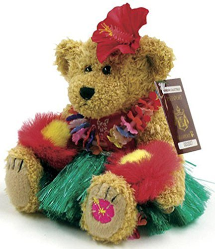 Plush Hawaiian Hula Dancer Bear Collectible