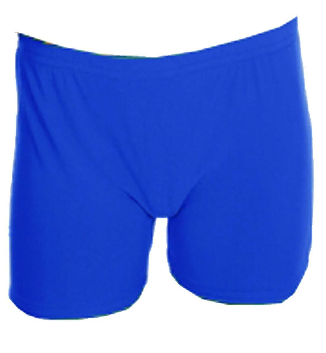 Rimi Hanger Children Plain Stretchy Neon Hot Pants Girls Dance Gym Lycra Party Tutu Shorts Royal Blue 5-6 Years