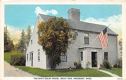 The Macy Colby House built 1654 Amesbury Massachusetts - Macy's Massachusetts In