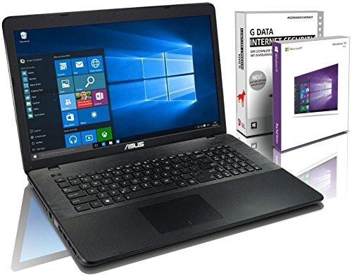 ASUS (17,3 Zoll) Notebook (Intel Pentium N3700 Quad Core 4x2.40 GHz, 8GB RAM, 1000GB S-ATA HDD, Intel HD Graphic, HDMI, VGA, Webcam, USB 3.0, WLAN, DVD-Brenner, Windows 10 Professional 64-Bit #5030