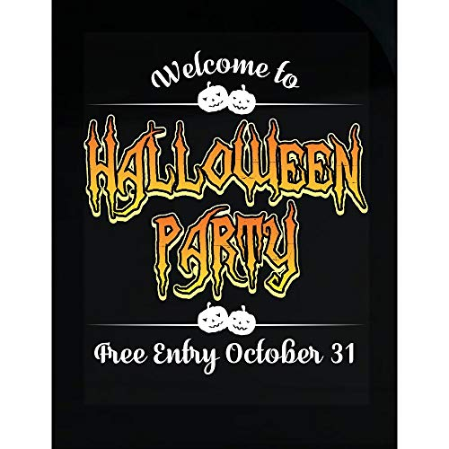 worlddesignsclub Welcome to Halloween Party Free Entry 31st Oct 2017 - Transparent -