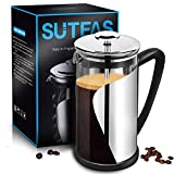 French Press Coffee Press 8 cup 34oz, Heat Resistant Borosilicate Glass French Press Machine