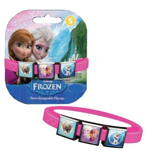 Sven From Frozen Costume (Disney Frozen Bracelet with Elsa, Anna, Sven and Olaf Charms - Pink,Small,Pink)