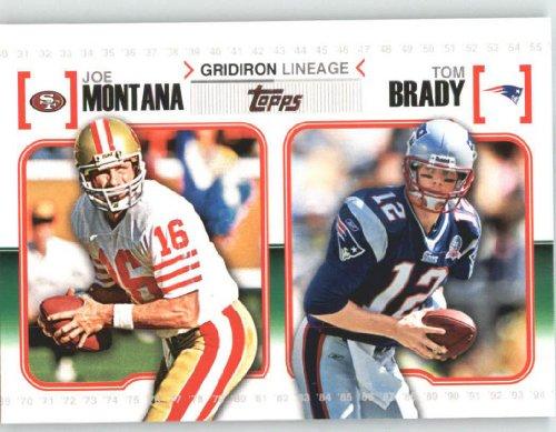 2010 Topps Gridiron Lineage #GLMOB Joe Montana / Tom Brady - San Francisco 49ers / New England Patriots (Football - Francisco 49ers Football San Card