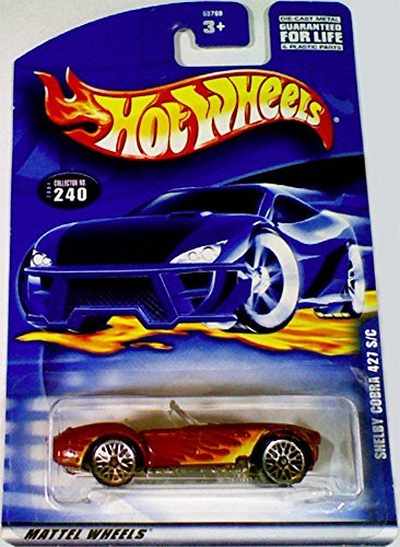 (Hot Wheels 2001 Shelby Cobra 427 S/C RED #240 Convertible 1:64 Scale )