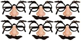Dkbees 6 Disguise Sets - Nose Moustache Loot/Party Bag Fillers Wedding/Kids/Joke