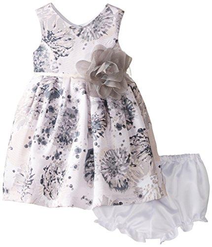 Pippa & Julie Baby Girls' Floral Shantung Dress, Multi, 12 Months