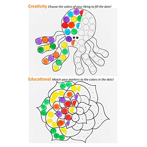 Glokers Jumbo Dot Coloring Book For Kids Creative Interactive