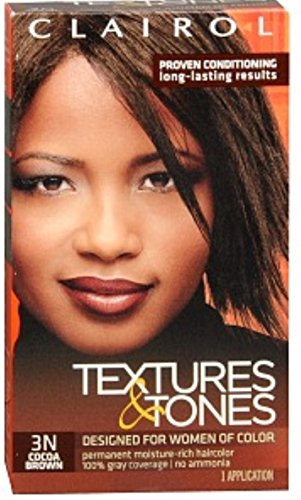 Clairol Textures & Tones 3N Cocoa Brown, 1 ea (Pack of 5)