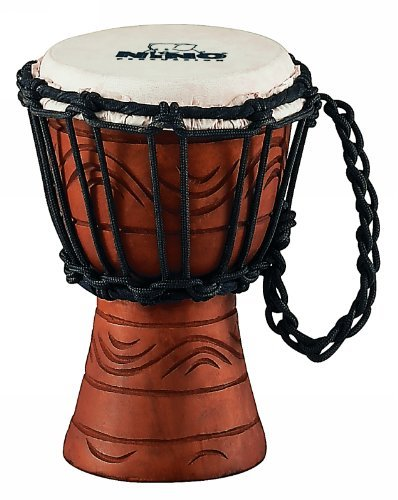 NINO African Style Rope Tuned Djembe 4 1/2-Inch XX Small Water Series ()