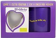 Kit Coletor Menstrual Violeta Tipo A Transparente + Caneca Higienizadora, Violeta Cup, Incolor, Tipo A Mulheres A Partir De
