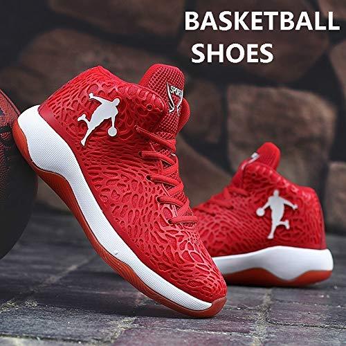Latest Men's Women`s Performance Sports Shoes AJ Jordan Unisex Basketball Fashion Sneakers(Black & Red,9.5) (Jordan Shoes Latest)
