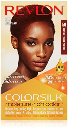 Revlon Colorsilk Moisture Rich Hair Color, Deep Red No. 56, 1 Count