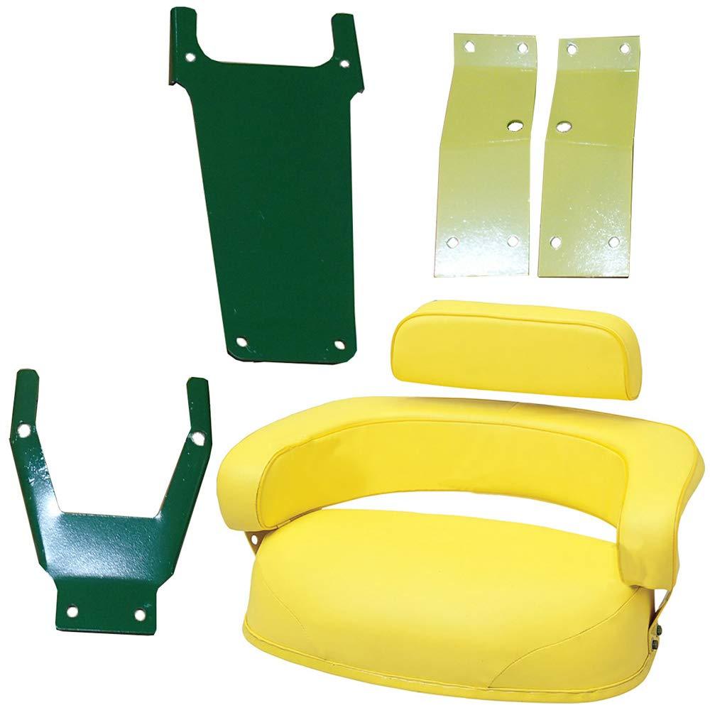 John Deere 3 Piece Seat Cushion Set w/ SBK400 Brackets 2520 3020 4020 4320 4620+ by StevensLake