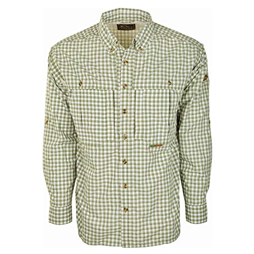 Drake Featherlite Wingshooter's Plaid Shirt L/S (Green, ()