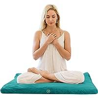 Ajna Velvet Zabuton Meditation Mat - Luxurious Meditation Cushion Floor Pillow - Zabuton Meditation Cushion Large - 100…