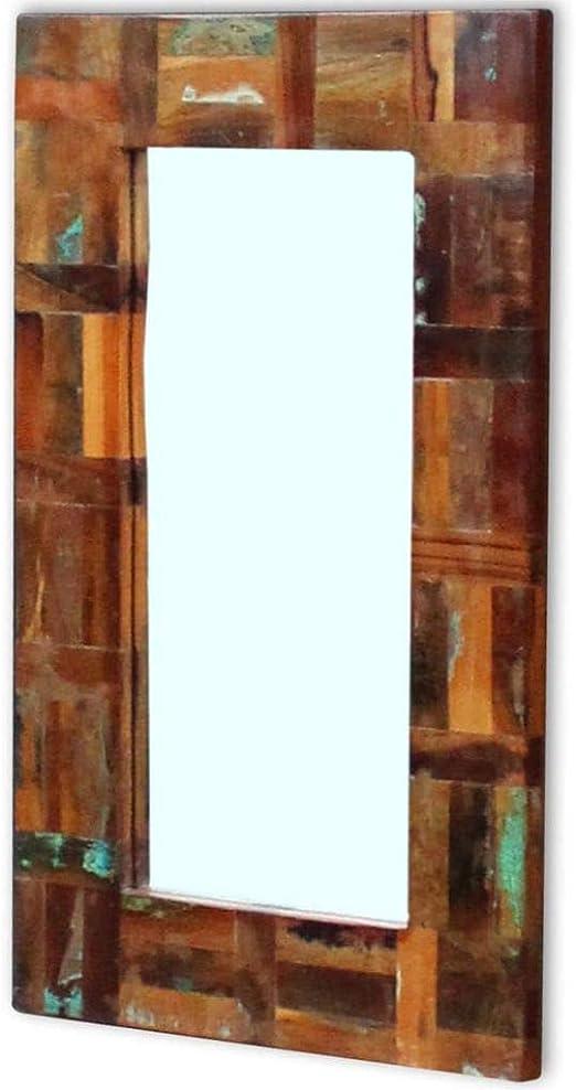 Badezimmerspiegel Antik.Vidaxl Massivholz Wandspiegel Flurspiegel Holzspiegel Badezimmerspiegel Antik Amazon De Kuche Haushalt