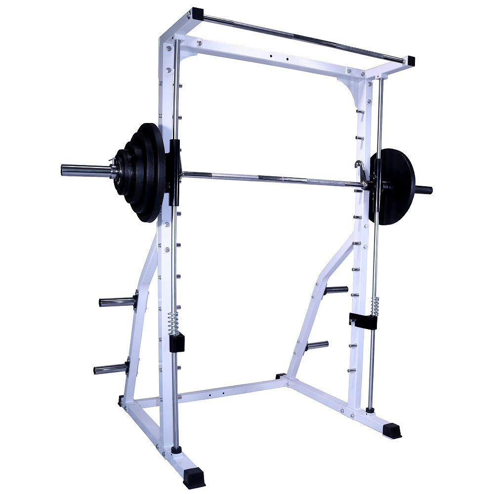 Deltech Fitness Linear Bearing Smith Machine with 245 lb. Olympic Weight Set