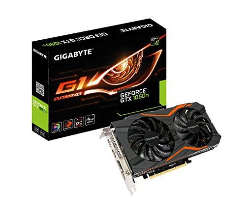 Gigabyte Geforce GTX 1050Ti G1Gaming 4GB Graphic Card Black, Boost Clock 1506 MHz , GV-N105TG1GAMING-4GD (Renewed) (Gigabyte G1 Gaming Geforce Gtx 1050 Ti 4gb)