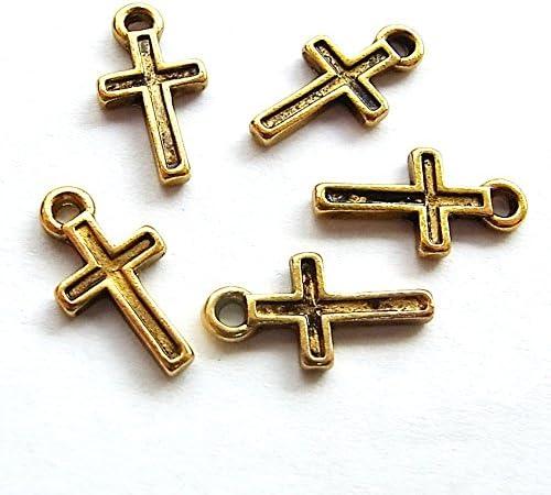 十字架チャーム02 G 5個入