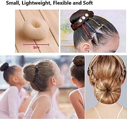 Extra Small Hair Bun Maker For Kids 6 Pcs Chignon Hair Donut Sock Bun Form For Girls Mini Hair Doughnut Shaper For Short And Thin Hair Small Size 2 4 Inch Beige Buy