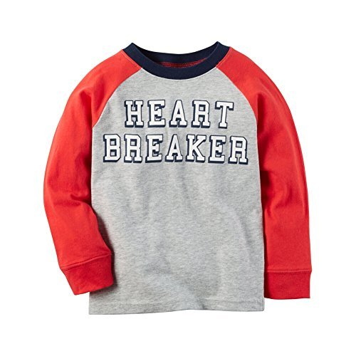 Carter's Boys' 2T-8 Long Sleeve Heartbreaker Tee 4T Carters Long Sleeve Raglan Tee