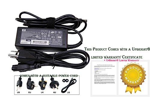 HP ED494AA AC Smart power adapter (65-watt) - 100-240VAC input, 47-63Hz - 18.5VDC output, 65 watts - Includes detachable 3-wire AC power cord with C5 connector, and includes dongle for use with older, non-Smart compatible notebook PC's (All Hp In Printer One Cord Power)
