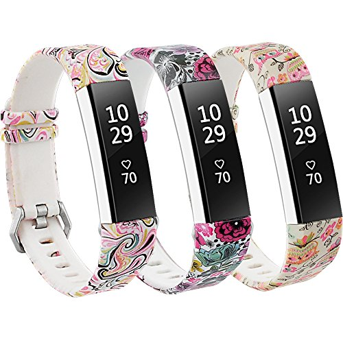 - RedTaro Bands Compatible with Fitbit Alta and Fitbit Alta HR,Pack of 3(Paisley,Floral,Owl),Standard Size for 5.5