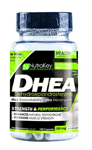NutraKey Dhea Capsules, 100 mg, 100-Count by NutraKey