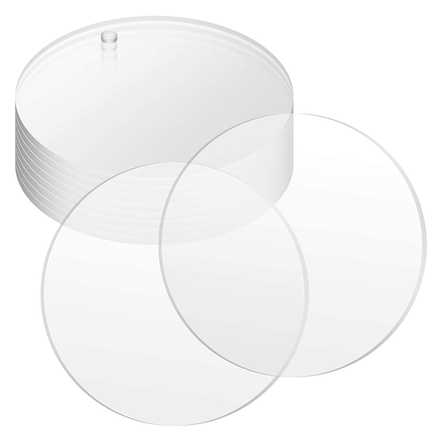 2.5 Diameter Crystal Clear Cast Sheet Pack of 25 Table Signs Cricut Cutting Picture Frames Gartful Round Acrylic Plexiglass Sheet 1//8 Thick Transparent Panel Board for Crafting Projects