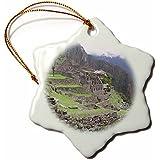 Patricia Sanders Machu Picchu in Peru Travel Photography Snowflake Porcelain Ornament, 3-Inch