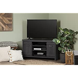South Shore Exhibit Corner TV Stand, for Tvsup To 42'', Gray Oak