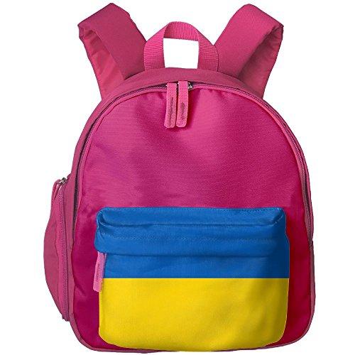 Fengyaojianzhu Flag Of Ukraine Fashion School Book Bag Travel Student Backpack For Toddler Kids Girls - Ukraine Singapore In Girls