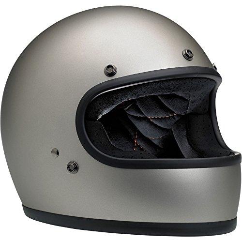 Biltwell Gringo Full Face Helmet (Titanium, X-Large)]()