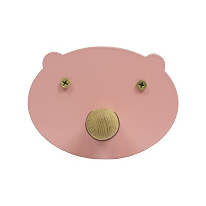 Perchero de Pared Pig - Perchero Infantil Cerdito (Rosa ...