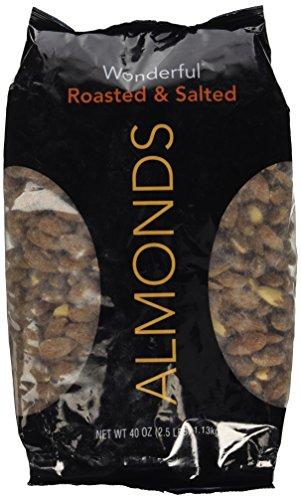 Wonderful Almond Roasted & Salted, 40 Oz (2.5 Lbs)