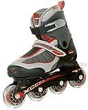 Skate Asylum Junior Recreational Inline Skates - Mx S1000 Adjustable - Red Trim - Size Large (Uk3 - UK5)