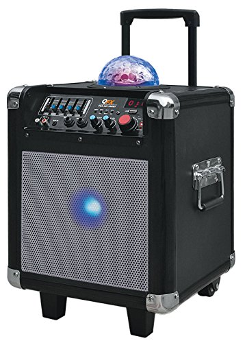 Price comparison product image QFX PBX-507100BTSL Portable Battery Powered Bluetooth Mini Party Speaker - Silver/Black