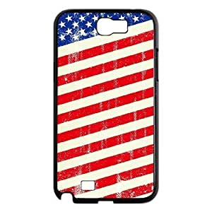 LZHCASE Diy Design Back Case American Retro Flag for Samsung Galaxy Note 2 N7100 [Pattern-1]