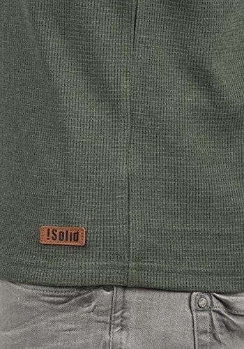 Longsleeve Melange Climb Manga Toki Camiseta Ivy Para Larga Con 8785 Básica solid De Cuello Grandad Hombre FpY6Fx