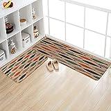 Kitchen Mat,Classic Comfort Chef Soft Non-Slip Waterproof Rubber Carpet Kitchen Floor Mats Oil Proof Doormat Runner Bathroom Area Rugs with Anti Curling Rug Gripper
