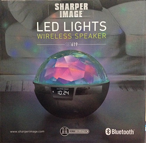Sharper Image Bluetooth Wireless Speaker With Led Lights And Control