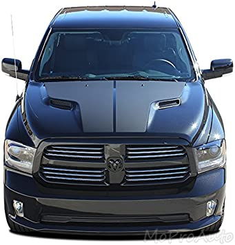 DODGE RAM 1500 SRT Sport Hood Stripes vinyl Decal graphics kit 2009-2017