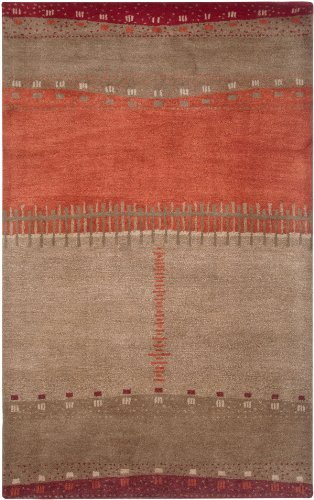 Rizzy Home Mojave Collection MOJMV315900040508 Hand-Tufted Area Rug, 5' x 8' , Maroon