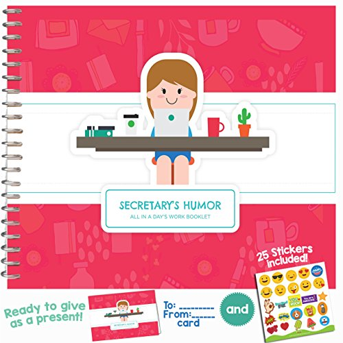 SECRETARY GIFTS IDEAS - Personalizable Funny Booklet to Say Thank You to Your Favorite Assistant or administrative Professional | Includes Stickers, Jokes and Quotes | 8
